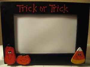 Halloween Frame Trick or Treat personalized pumpkin ghost photo picture frame