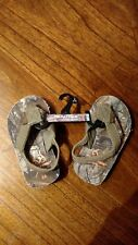 Realtree Outdoor Footwear Toddler Size Small 5-6 Camo Sandals With Back Straps