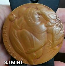 SOCETY OF MEDALISTS -25th ISSUE – JANET DE COUX – 1942 – THE SLUGGARD & THE ANT.