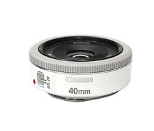 Canon EF 40mm f/2.8 STM Pancake White Lens NEW  -Bulk Package + 52mm UV Filter