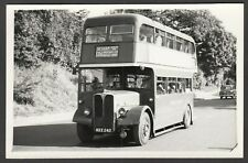 Bus Photograph postcard size MXX 242 destination Chesham NOT A POSTCARD