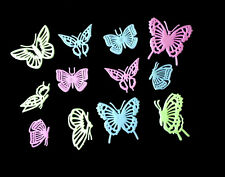 12pc Butterfly 3D Glow in the Dark Wall Sticker Green Light Home Decor Baby Room