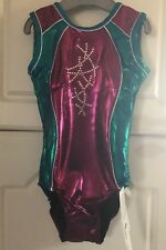 ZONE SLEEVELESS DIAMOND BERRY MERMAID LEOTARD    AGE 7/8  SIZE 28