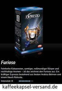 K-fee Espresto - FURIOSO ESPRESSO - 6x16=96 Kapseln - 3,71 € / 100 Gram