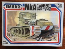 "EMHAR 1/35 WW 1 BRITISH Mk A ""WIPPET "" MEDIUM BATTLE TANK  # 4003 FACTORY SEALED"
