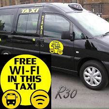 Free Wi Fi In This Taxi Car Decal Vinyl Sticker For Window Bumper Panel