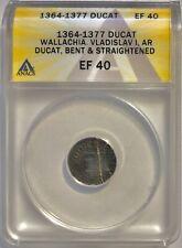Wallachia Transylvania - Vlad I (1364-77) AR Silver Ducat ANACS XF-40