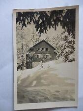 Ansichtskarte Bergheim Markwaldhütte Hornisgrinde Ski-Club Karlsruhe 1952