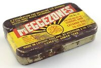 Meggezones Cough Catarrh Cold Relief Meggeson Tin Box Empty Container S287