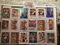 WOW Panini Patrick Mahomes Prizm lazer, Rookie College Jersey & more 20 card lot