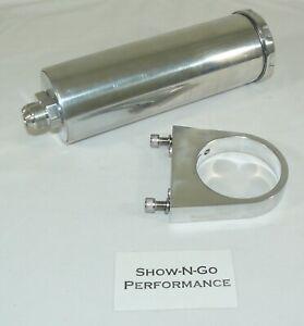 Billet Aluminum Remote Power Steering Reservoir Polished Universal