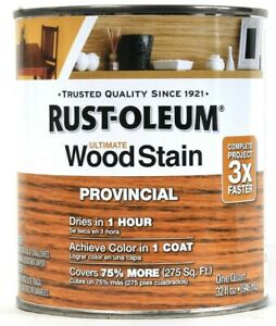 1 Can Rust-Oleum 32 Oz Ultimate Wood Stain One Coat 1 Hr Dry 205589 Provincial