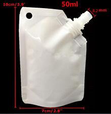 5~40pcs 50/500/1000ml Spout Pouch White Stand Up Spout Bag Wine Sauce Leak Proof