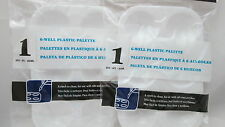 2 Loew Cornell - 6-Well Small Plastic Craft Painting Pallette