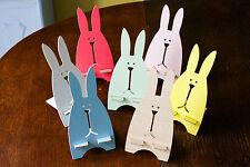 Wooden Rabbit Business Card Memo Holder Mobile Phone Stand Desk Easter Bunny Vat