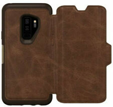OtterBox Strada Leather Folio Case Samsung Galaxy S9 Plus Espresso Easy Open Box