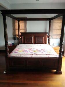 4 poster King Size Teak Bed Frame