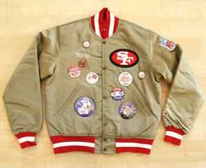 VINTAGE 1990'S SAN FRANCISCO 49ERS GOLD STARTER SATIN JACKET SZ.S! SUPER BOWL,SF