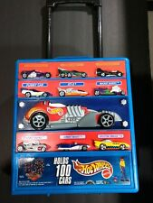 HOT WHEELS Rolling Suitcase Carrier with Handle Stores 100 Cars Mattel 2000