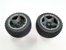 NEW KING MOTOR Wheels +Tires Rear Gray Rings DIRT BUSTER (HPI BAJA 5B 5SC GB44DG