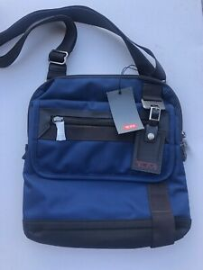 Tumi Eastern Zip Top Flap Crossbody Messenger Bag Navy Blue NEW with Tag