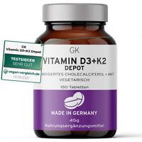 Vitamin D3 K2 Kapseln hochdosiert (180 Kapseln, 45g)