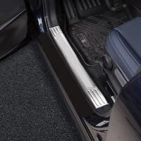For Mazda CX-30 2019 2020 Silver Car Inner Door Sill Scuff Threshold Plate 4PCS