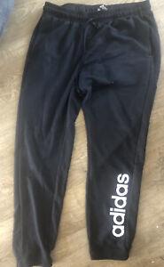 Adidas Black Jogger Sweat Pants trousers Pants Size large