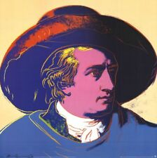 ANDY WARHOL - Goethe (Red and Black) Offset Lithograph Art Print 26x26 Poster