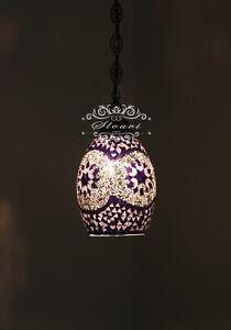 Turkish Handmade Mosaic Hanging Pendant - Kitchen Island Light