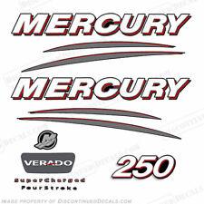 Mercury Verado 250hp Decal Kit - Straight