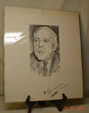 John Johns, Pittsburgh Press, Original Illustration Art David L Lawrence Mayor