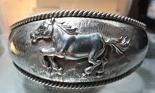 Barse .925 Sterling Silver Wide Large Wrist Cuff Horse Bracelet - Free Shipping