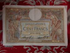 ancien billet france 100 francs cent KY merson O 43427 22 2 1934 626