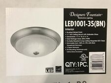 """Led 11"""" Ceiling Mount Light Fixture No Bulbs Needed - Flushmount Brushed Nickle"""