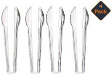 Clear Plastic Sweet Tongs Perfect for Wedding, Food, Kitchen, Ice. 16 cm  (4 Pk)