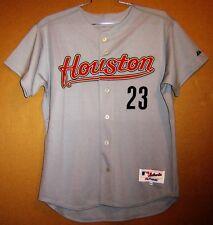 HOUSTON ASTROS MATT MIESKE GAME ISSUED GRAY BUTTON-DOWN #23 MLB Size 46 JERSEY