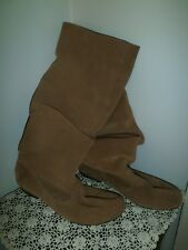 CONVERSE SUEDE SLOUCH BOOTS ~TAN ~ SIZE 37