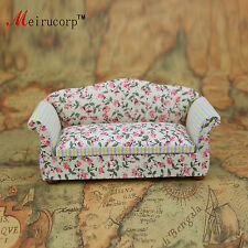 Floral patterns Cloth 1/12 Scale Dollhouse Miniature Furniture Sofa 10438