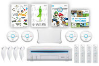 Nintendo Wii Family-Paket inkl. Konsole + Spiele wie Mario Kart, Wii Fit & mehr!