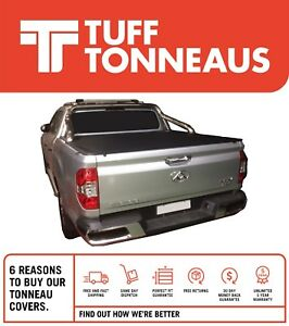 Clip On Tonneau Cover For LDV T60 Luxe Dual Cab (17 to Current)-Suits Sports Bar