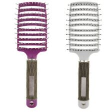 2Pcs Curved Vent Styling Detangling Hair Brush for Long Thick Curly Hair