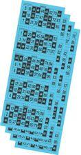 Cartones para bingo troquelados color azul