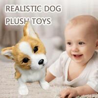 Realistic Tilt Head Corgi Dog Simulation Toy Dog Puppy Lifelike Stuffed Toy