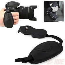 "1/4"" Leather Hand Grip Wrist Strap for Canon Nikon Sony Pentax Samsung Cameras"
