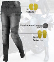 Women Motorbike Trouser Motorcycle Ladies Denim Jeans Biker Pant With CE Armour