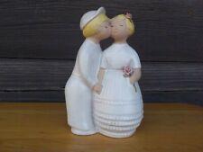 jie Gantofta Sweden Ceramic Boy Kissing A Girl Figurine