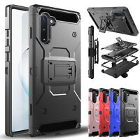 For Samsung Galaxy Note 9/10 Slim Case Hybrid Belt Clip Stand Holster Hard Cover