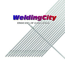 "WeldingCity 5-Lb ER4043 Aluminum 4043 TIG Welding Filler Rod 3/32""x36""   5-Lb"
