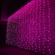Pink 3Mx3M 300 LED Fairy String Light Curtain Xmas Wedding Party Home Decoration